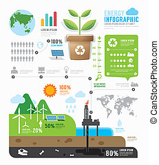 Infographic energy template design concept vector...