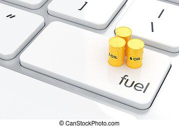 concepto, gasolina,  energyl