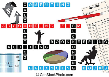 Accounting firm - Abstract illustration of the accounting...