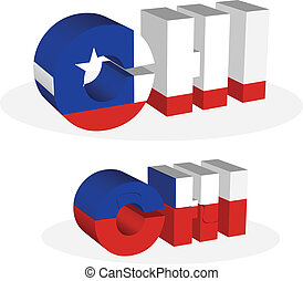 Chile Flag in puzzle - Vector illustration of Chile Flag in...
