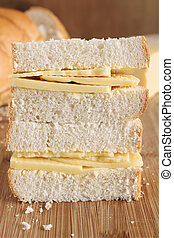 Cheese Sandwich - Rustic style hand cut Cheddar cheese...