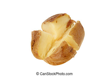 Jacket potato - Plain baked jacket potato cut into quarters...