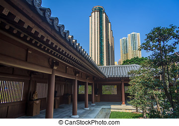 Chi Lin Nunnery Temple At Hong Kong
