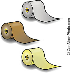 PAPER TOWEL ROLLS - Rolls of colored paper towels