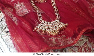 indian jewelry indian cloths - indian jewelry lays on indian...