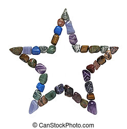 Five Point Crystal Healing Star on a white background