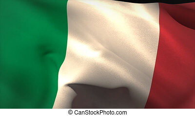 Digitally generated italy flag waving taking up full screen