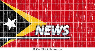 Flag of Timor-Leste news - News information splash Flag of...