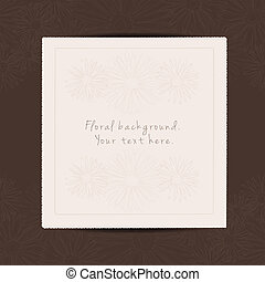 Greeting card with place for your