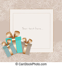 Greeting card with place for your text on a floral background. Vector