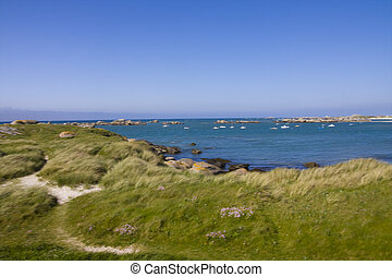 coastline - a view of the sea in brittany