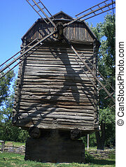 Old mill - The old wooden windmill is located in a...