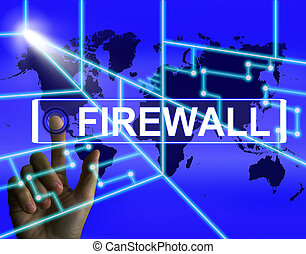 Firewall Screen Refers to Internet Safety Security and...