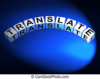Translate Dice Show Multilingual or International Translator...