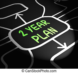 Two Year Plan Arrows Means Program For Next 2 Years - Two...