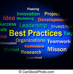 Best Practices Words Shows Optimum Business Procedures -...