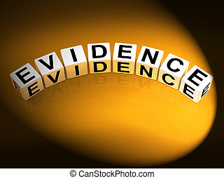 Evidence Dice Represent Evidential Substantiation and Proof...