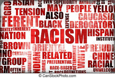 Racism and Discrimination as a Grunge Background
