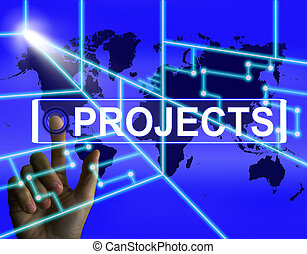 Projects Screen Indicates International or Internet Task or...