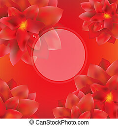Card With Red Flowers