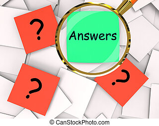 Questions Answers Post-It Papers Mean Inquiries And...