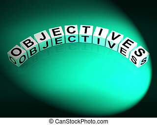 Objectives Dice Show Motivation Aims and Goals