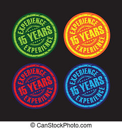 15 years experience stamps
