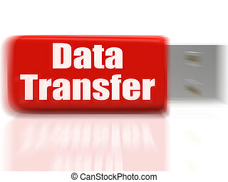 Data Transfer USB drive Shows Data Storage Or Files Transfer...