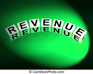 Revenue Dice Mean Finances Revenues and Proceeds - Revenue...