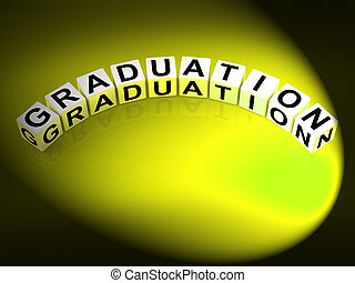 Graduation Letters Show Finishing And Passing Studies