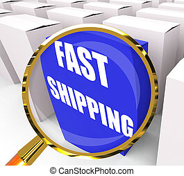 Fast Shipping Packet Shows Quick Deliveries and...