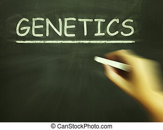 Genetics Chalk Means Genes DNA And Heredity - Genetics Chalk...
