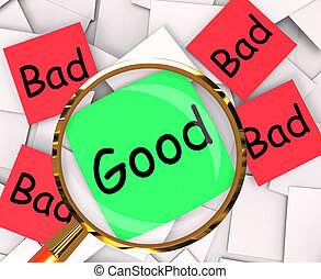 Good Bad Post-It Papers Mean Acceptable Or Unacceptable -...