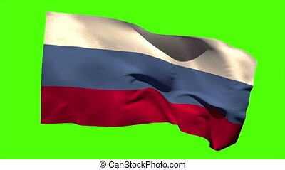Russia national flag blowing in the wind