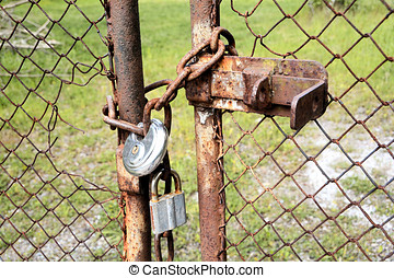 locked gate on a private property