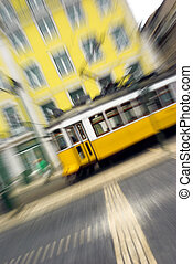 Tramway with blur effect
