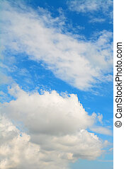 fluffy clouds - white fluffy clouds in the blue sky
