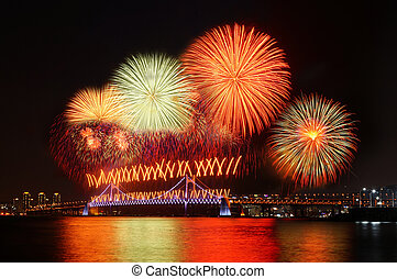 Fireworks at Busan, South Korea