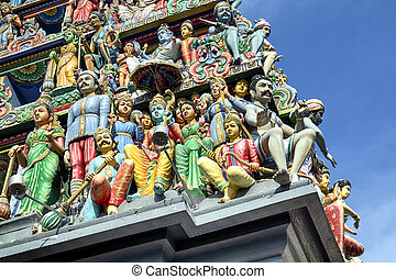 Sri Mariamman Hindu Temple in Singapore. - Details of Sri...