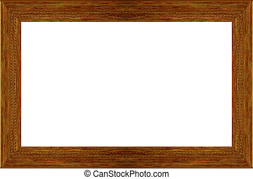 antique wood frame picture
