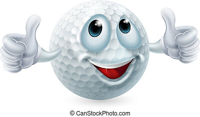 Cartoon golf ball character