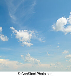 blue sky with  clouds - beautiful blue sky with light clouds