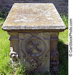 Grave - Unusual gravestone at Colwall church