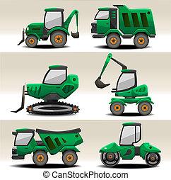 Road equipment vector