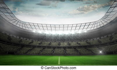 Lights flashing in large football s