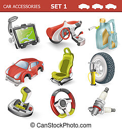 Car accessories, dashboard vector