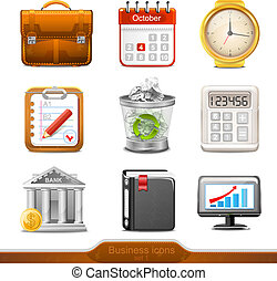 Business icons set 1 vector