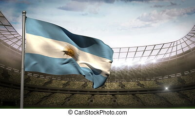 Argentina national flag waving on s - Argentina national...