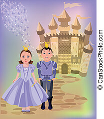 Magic castle and  princess prince
