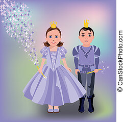 Little magic princess and prince